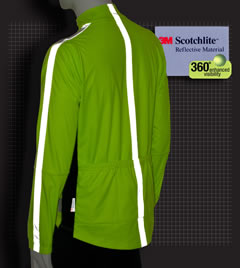 Reflective Cycling Jacket in Safety Yellow Back View
