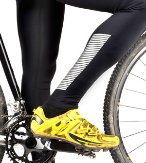 Men's 3M Slasher Reflective Padded Cycling Tights