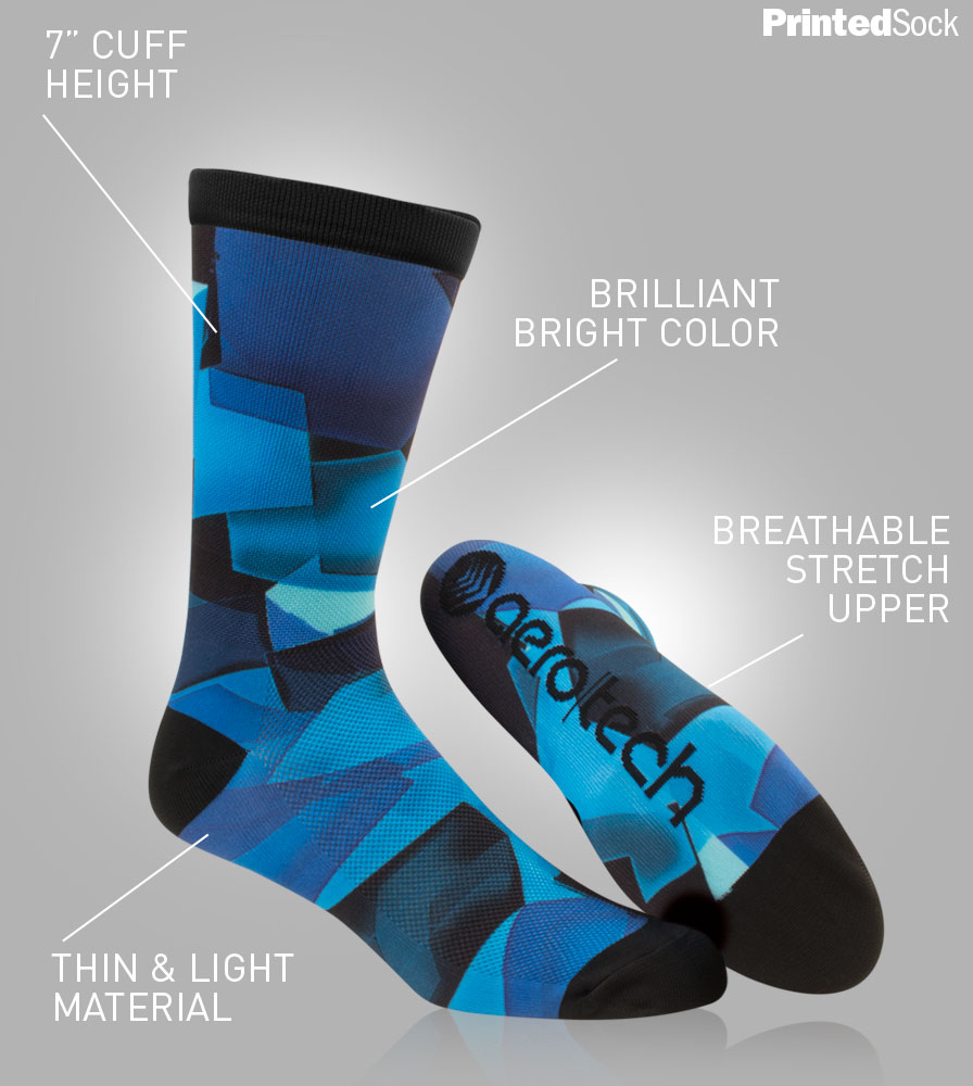Printed Cycling Sock Features