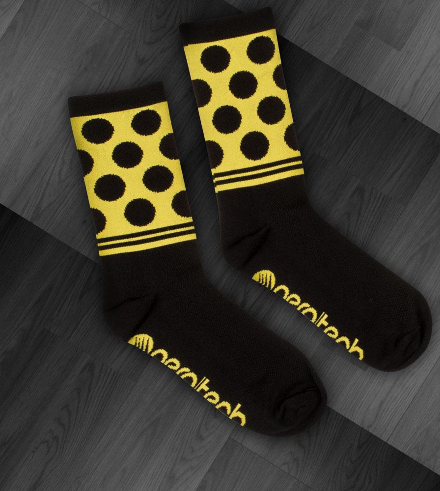 Black and Yellow Dot Print Flat
