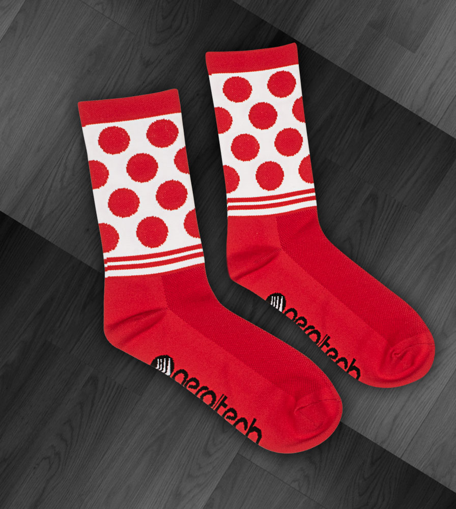 Red and White Dot Design Flat