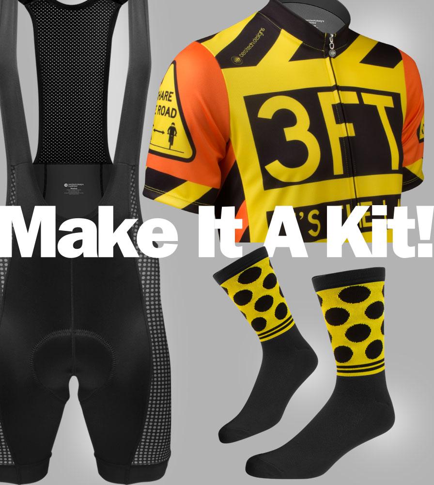 3ft Safety Sprint Jersey and Modern Bib Kit Panel