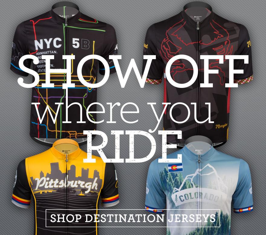 destination cycling jerseys