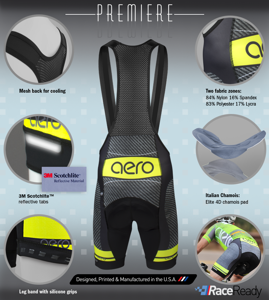Men's Premiere Advance Carbon Bib-Short Features