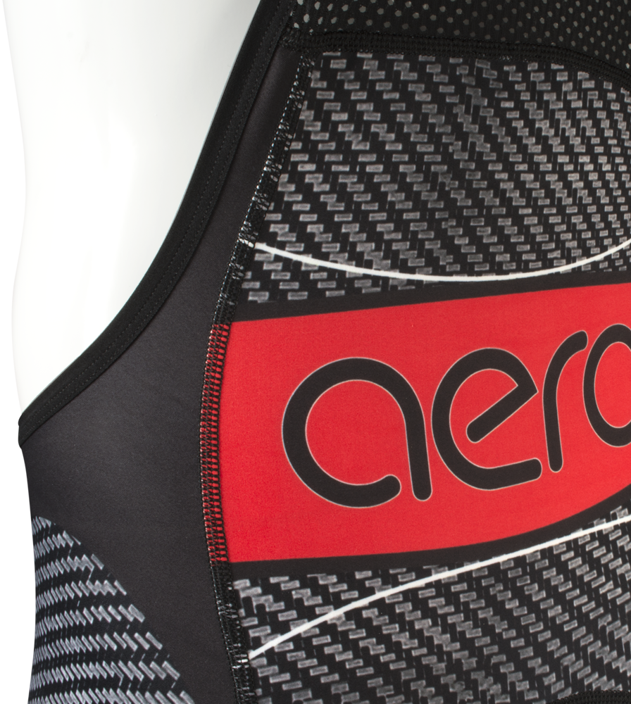 Men's Premiere Advance Carbon Red Bib-Short Back Yoke Detail