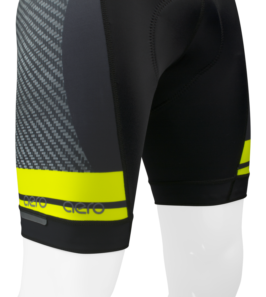 Men's Premiere Advance Carbon Safety Yellow Bib-Short Leg Detail
