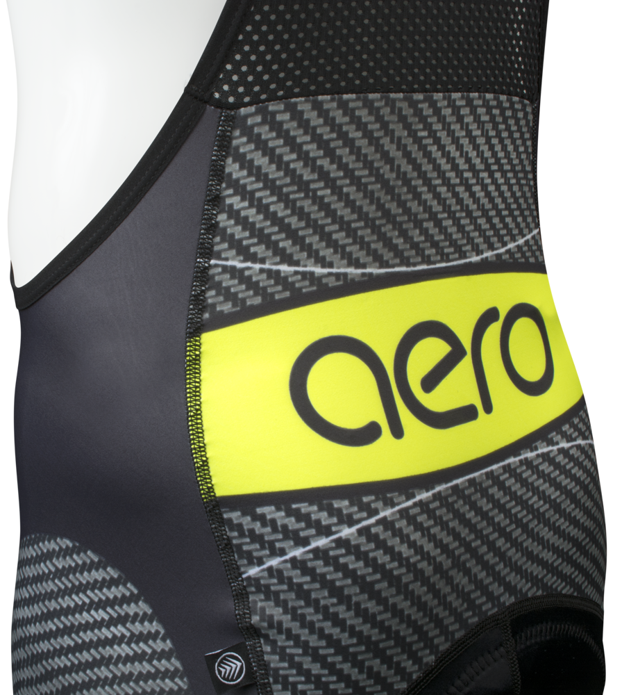 Men's Premiere Advance Carbon Safety Yellow Bib-Short Back Yoke Detail