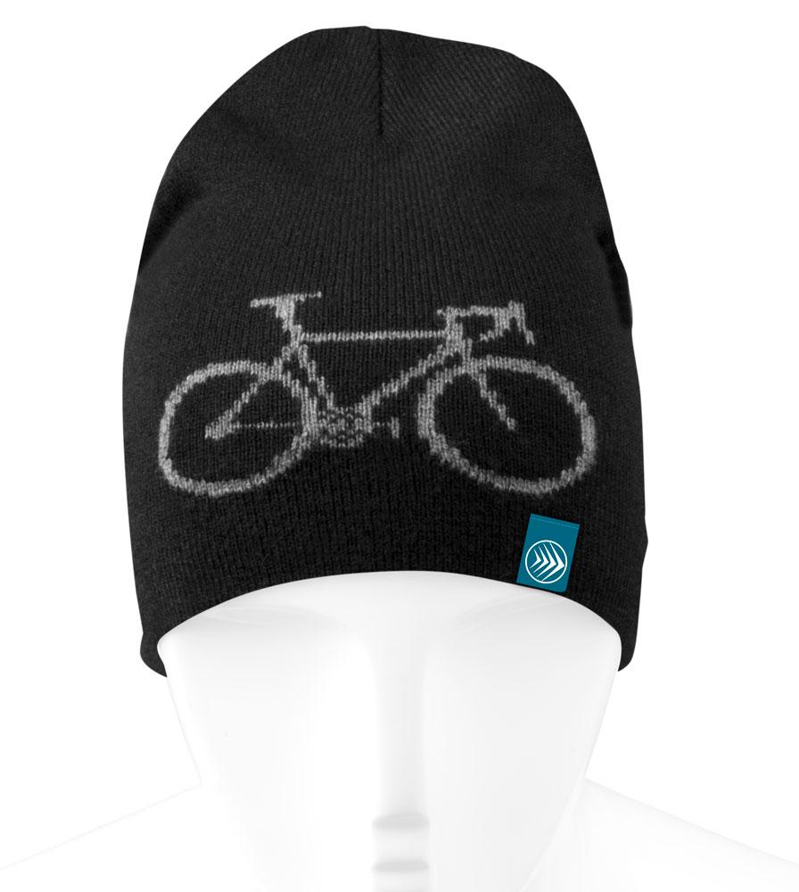 Black Bike Adventure Beanie Front