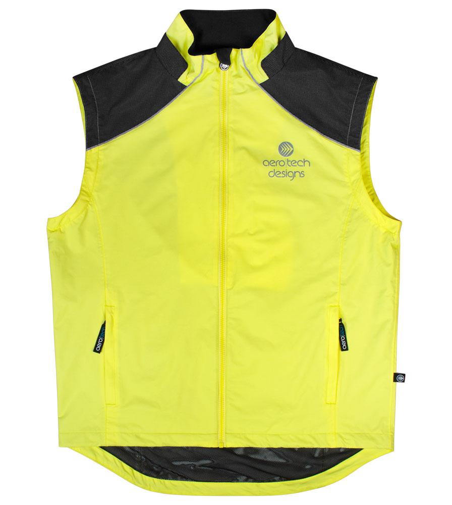 Aero Reflect Cycling Jacket Coverts into a Wind Vest