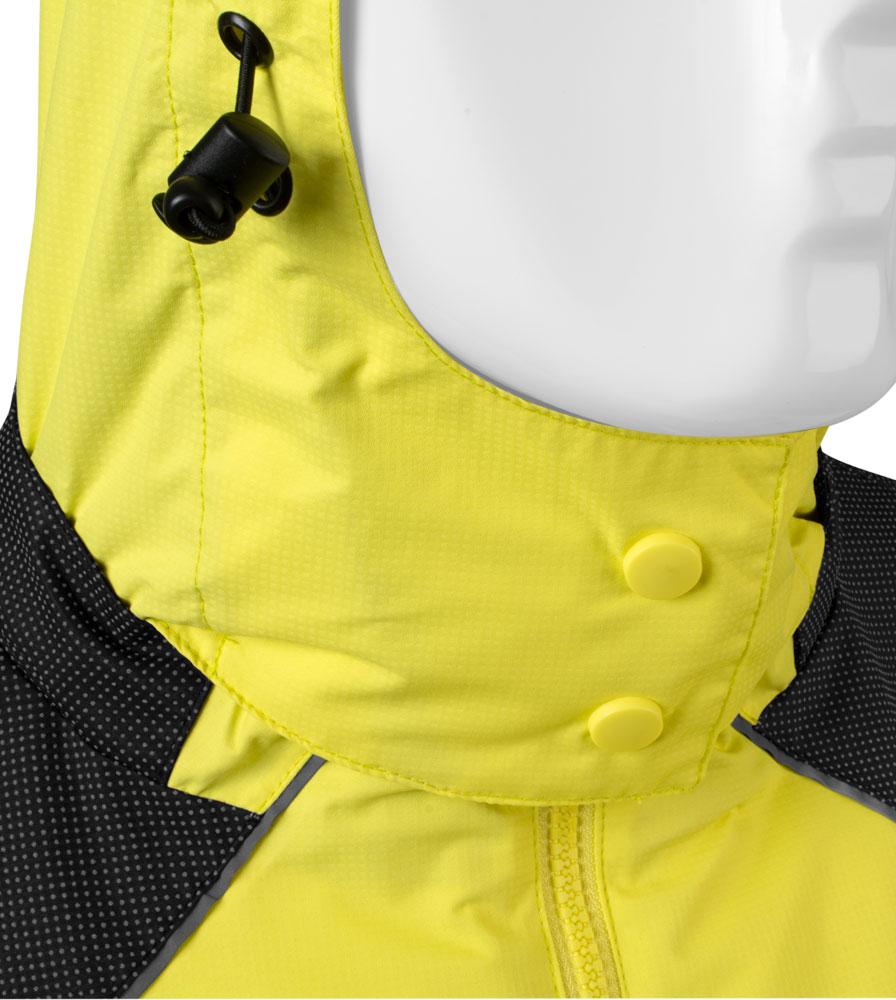 Men's Aero Reflect Cycling Jacket Hood Closure Detail
