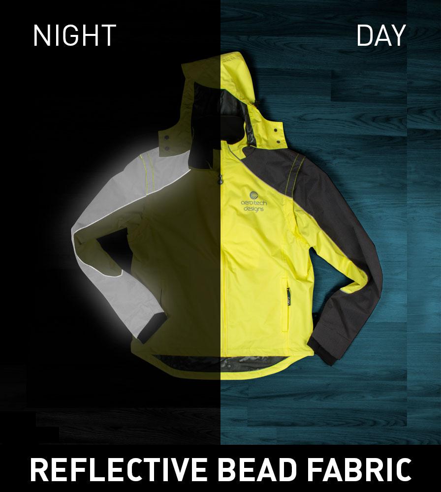 Men's Aero Reflect Cycling Jacket Reflective Bead Fabric