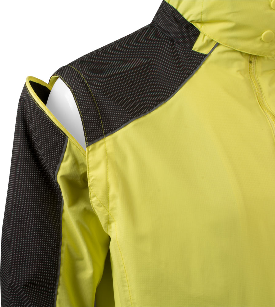 Aero Reflect Cycling Jacket Arm Sleeve Zipper Detail