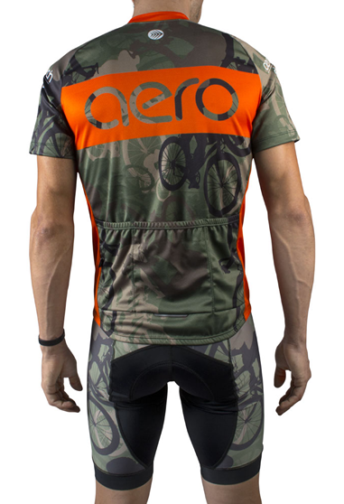 Woodlands Camo Cycling Jersey Back View
