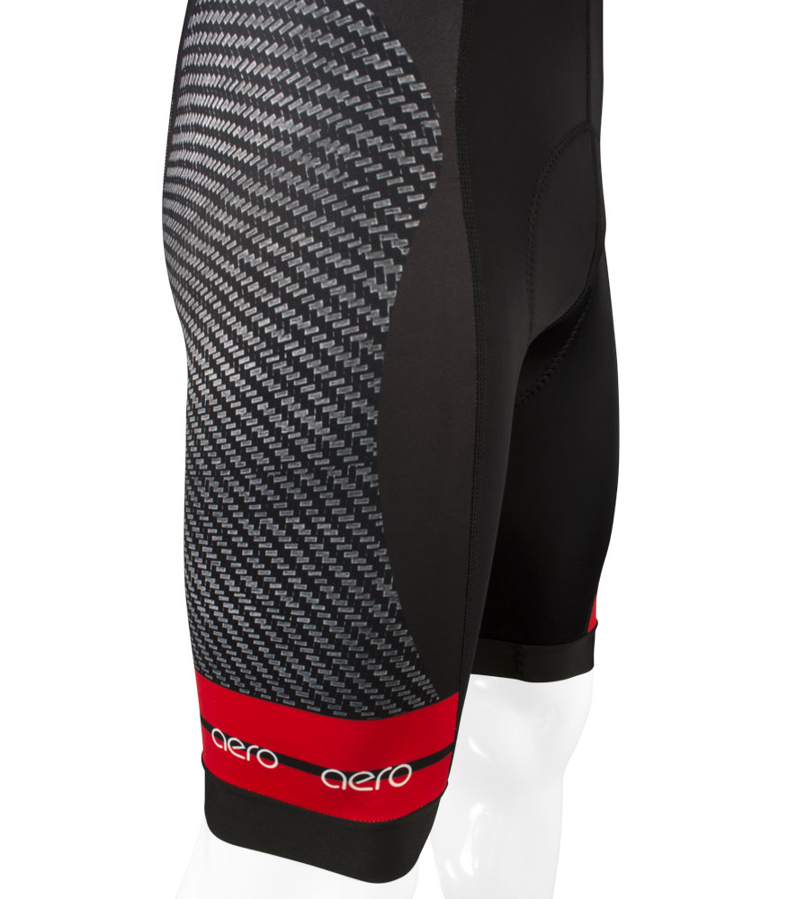 Men's Premiere Advance Carbon Red Bib-Short Side View