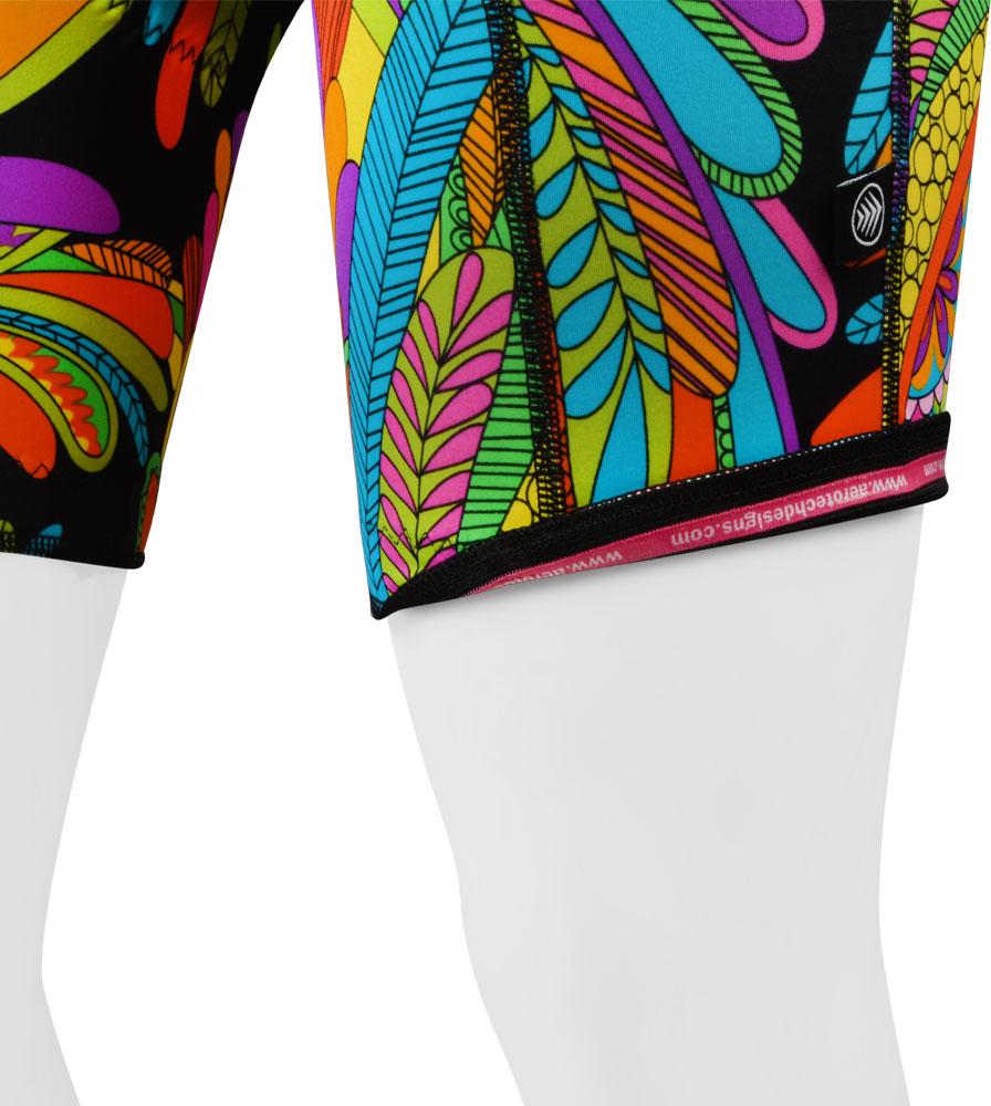 Rio Hippie Print Bike Shorts Leg Gripper