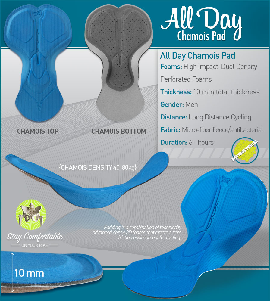 All Day Chamois Pad Features
