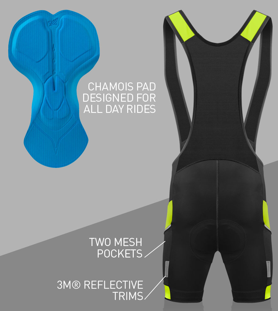 Men's All Day Cycling Bib-Short Back Features