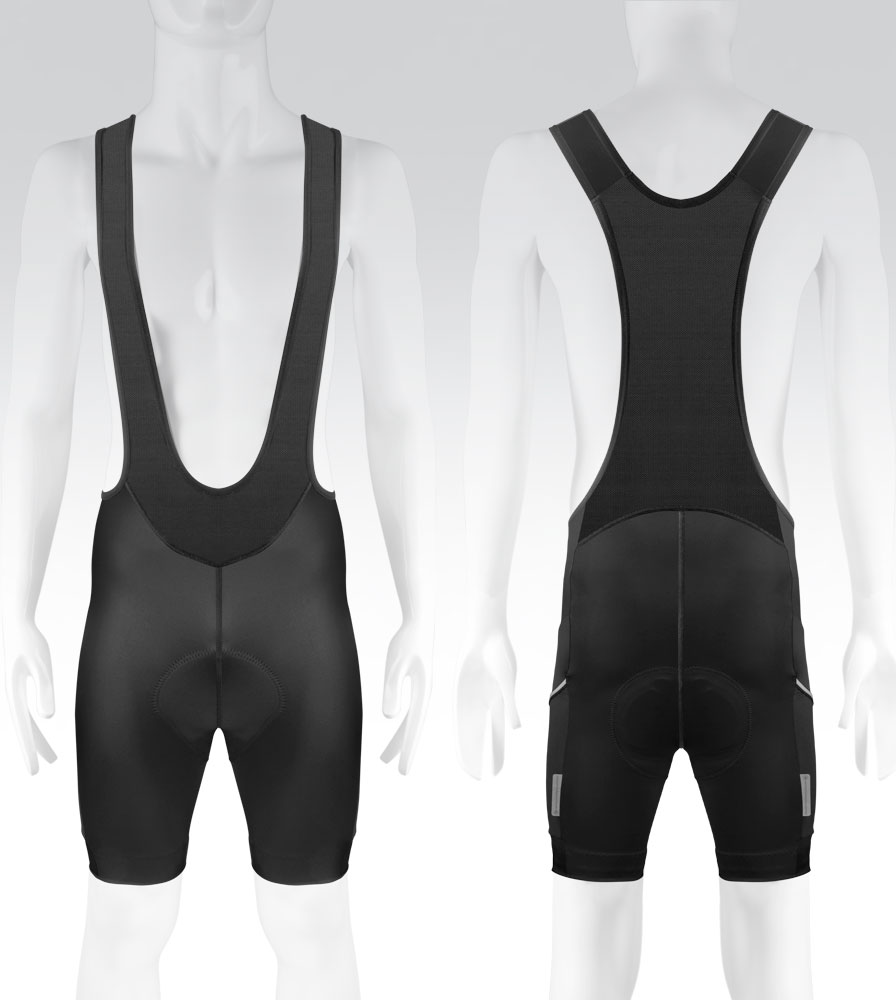 Men's All Day Cycling Bib-Short Front and Back View