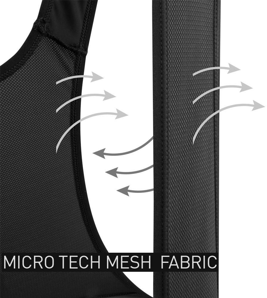 Men's All Day Cycling Bib-Short Micro Tech Mesh Fabric Detail