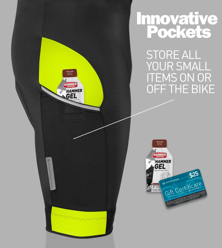 Men's All Day Cycling Bib-Short Pocket Detail