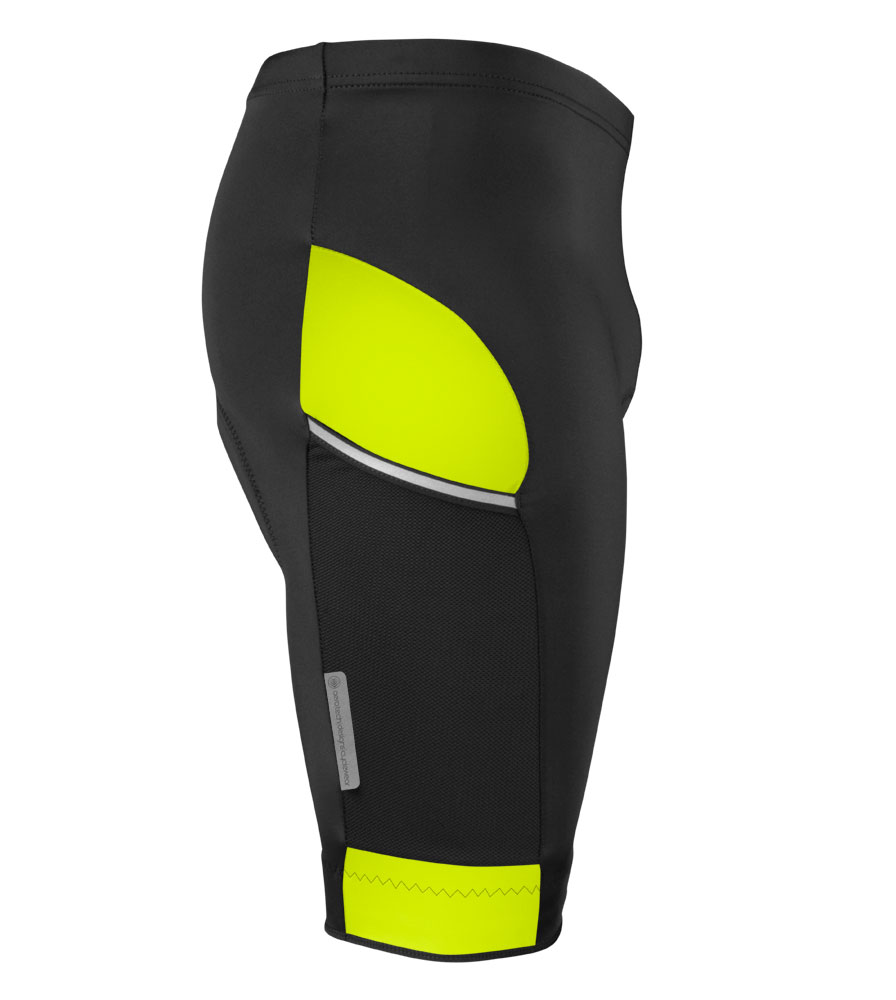 All Day Cycling Shorts in Safety Yellow Side View