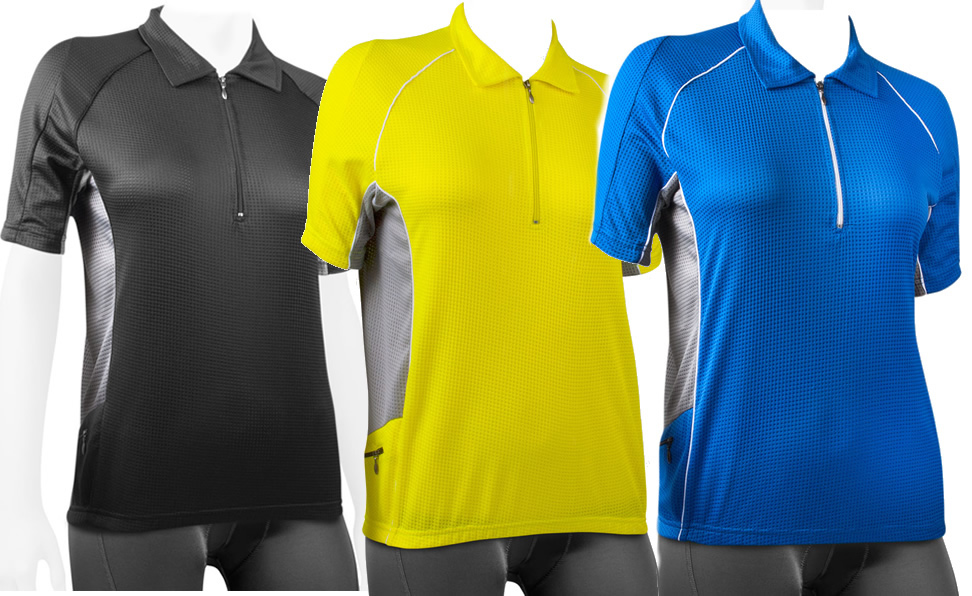 women's cyclig polo jersey