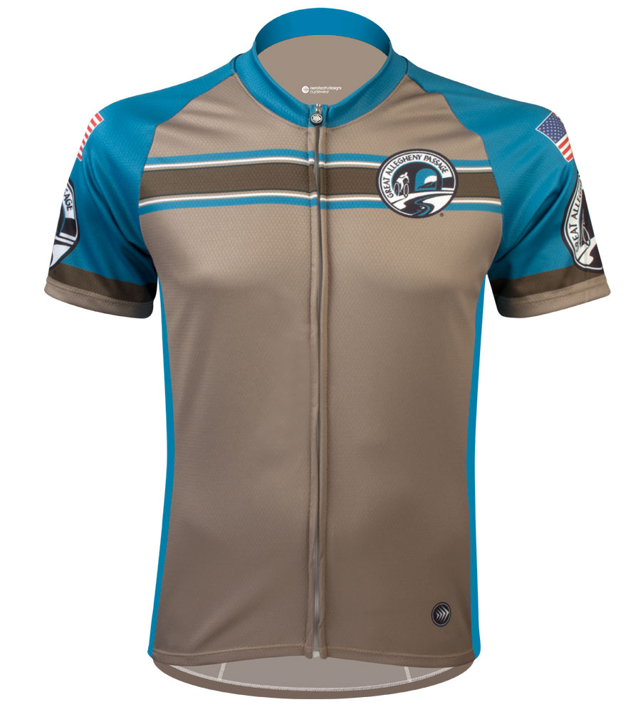 Greater Allegheny Passage Teal Stripe Jersey
