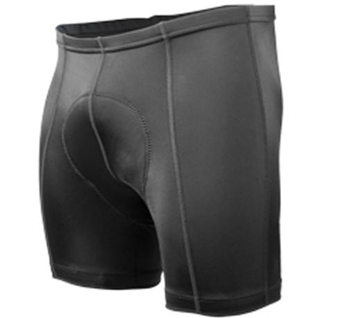 Men's Petite Black P. Bike Shorts