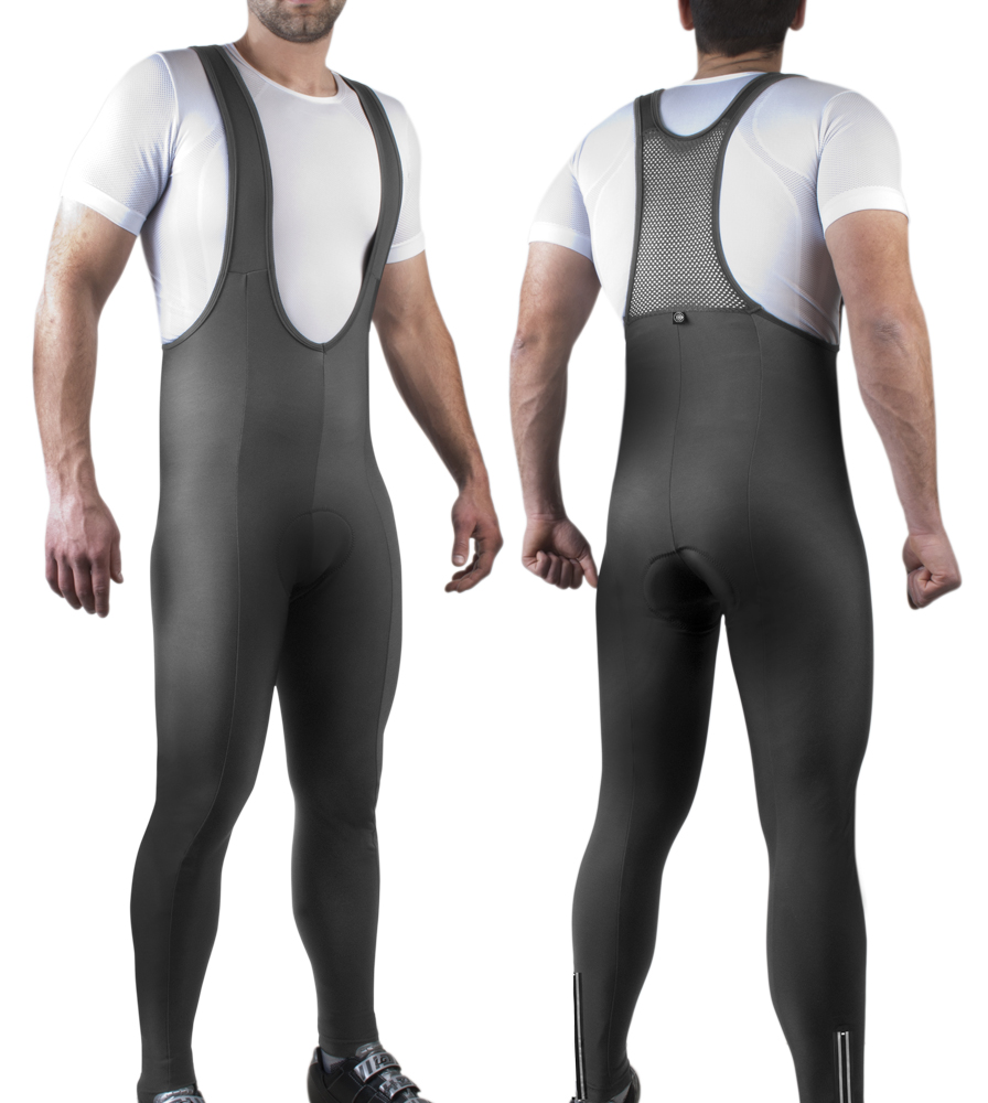 Men's Thermal Bib-Tights Modeled Front and Back