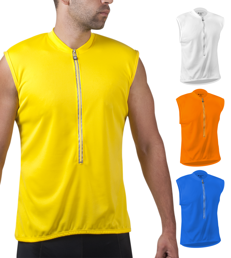 Solid Color Sleeveless Jersey