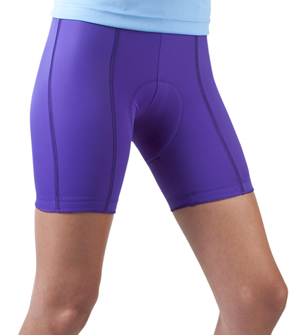 womens purple bike short