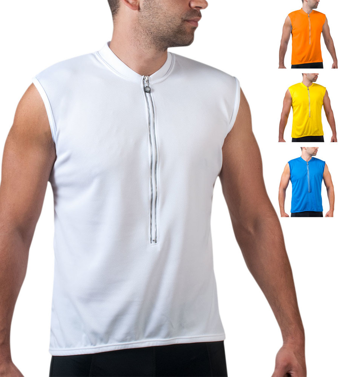 Big Man's Solid Color Sleeveless Jersey