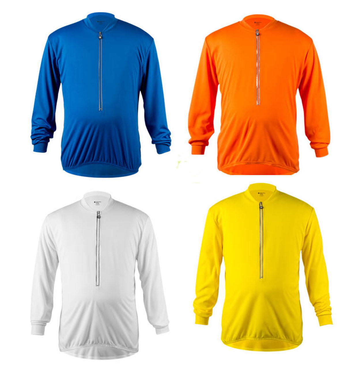 Big Man's Long Sleeve Solid Color Cycling Jerseys