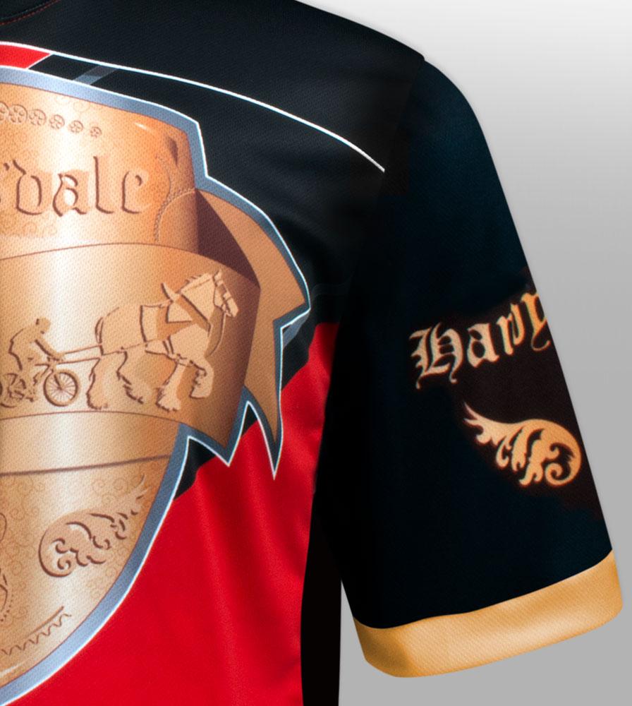 Red Big Men's Clydesdale Sleeve and Shoulder Detail