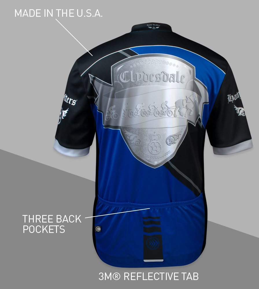 Big Men's Clydesdale Bike Jersey Back Features