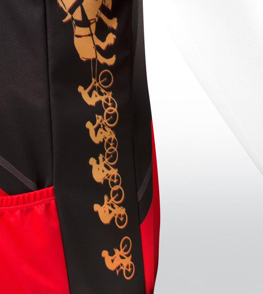 Red Big Men's Clydesdale Bike Jersey Side Panel Detail