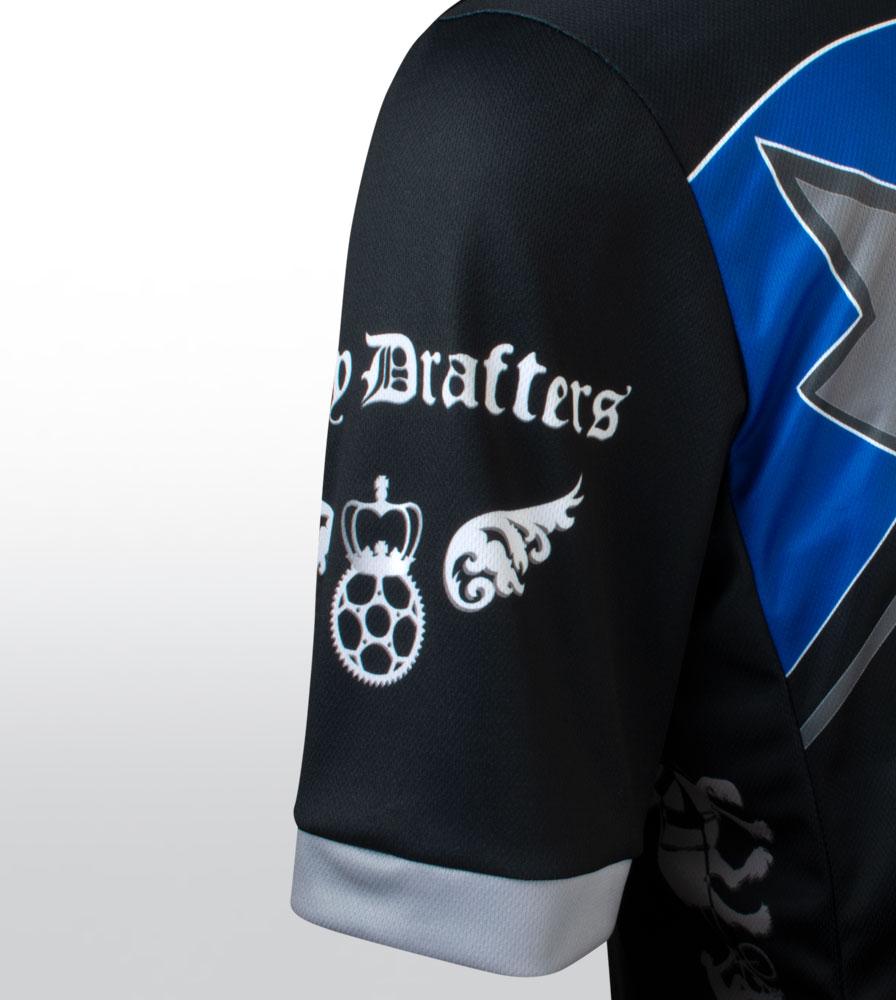 Royal Blue Big Men's Clydesdale Bike Jersey Sleeve Detail