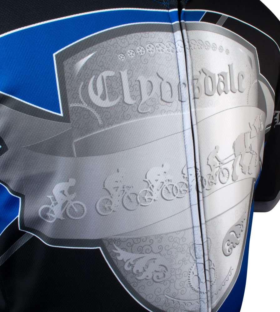Royal Blue Big Men's Clydesdale Bike Jersey Front Graphic