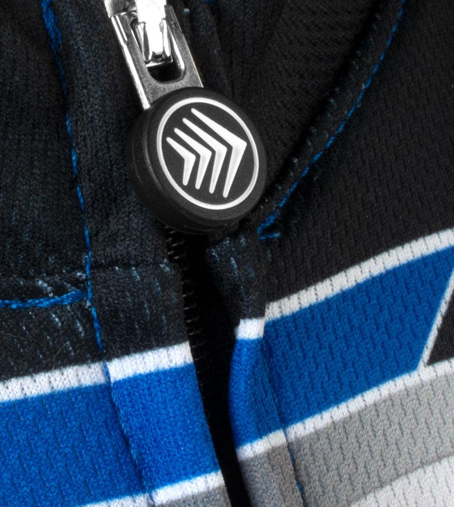 Royal Blue Big Men's Clydesdale Zipper Pull Close-up