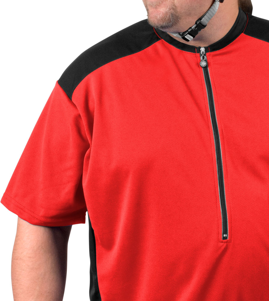 Red Jersey Top Front Detail