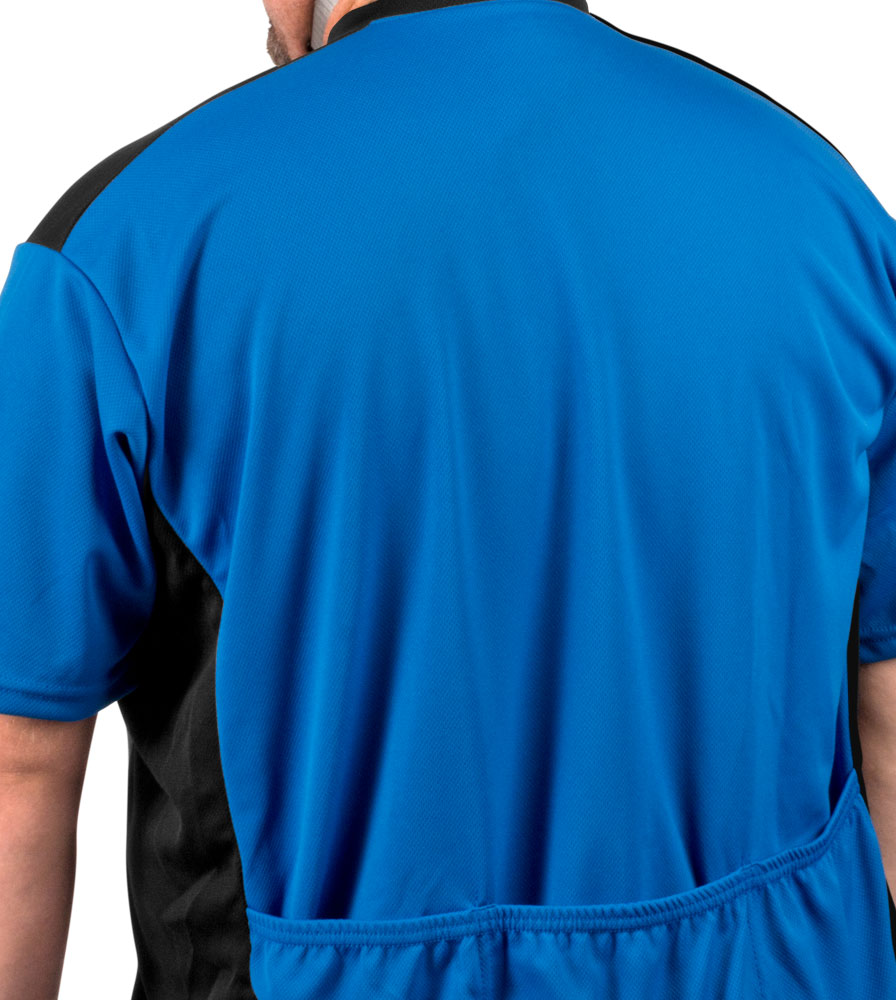 Royal Blue Jersey Off Back Top Detail