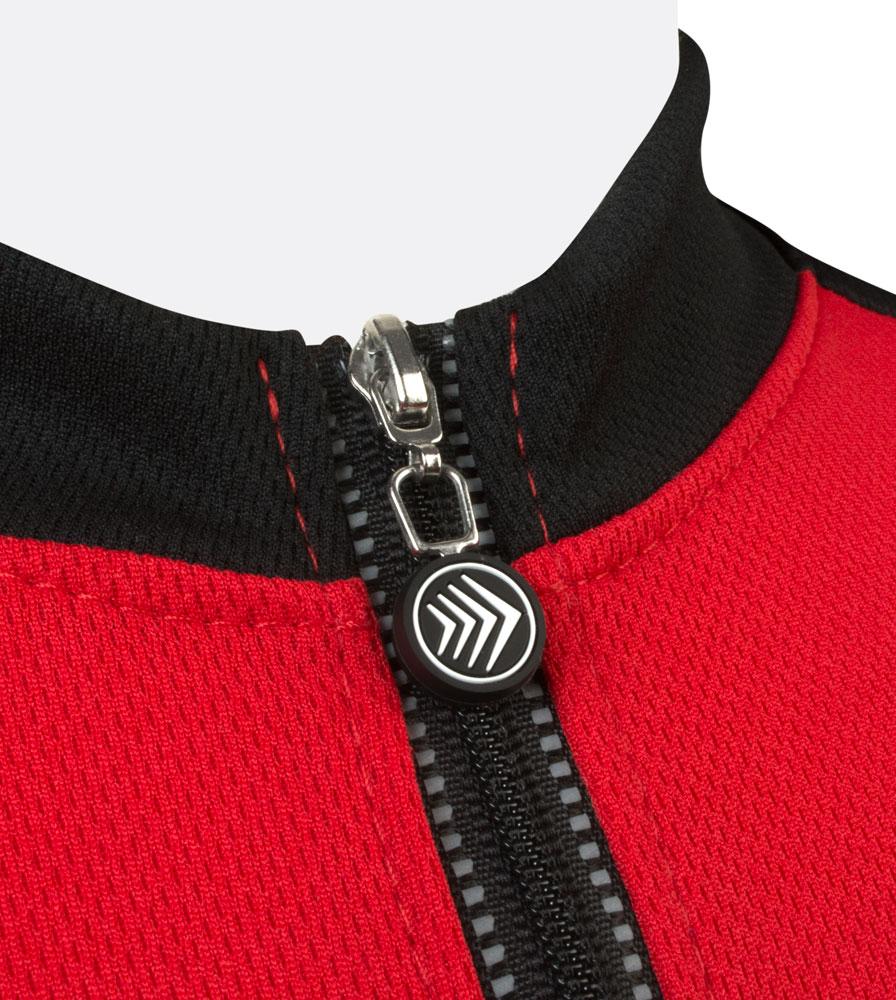 Red Jersey Collar Detail
