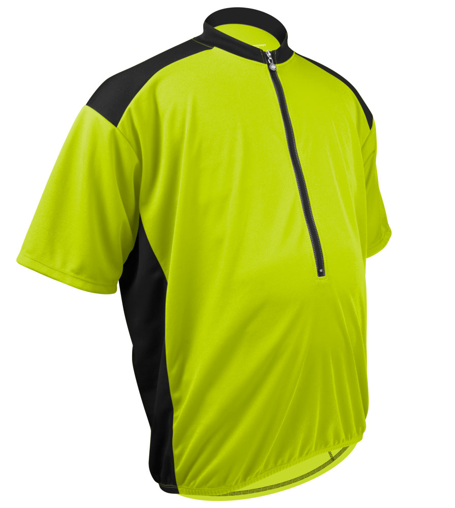 Safety Yellow Jersey Off Front Detail