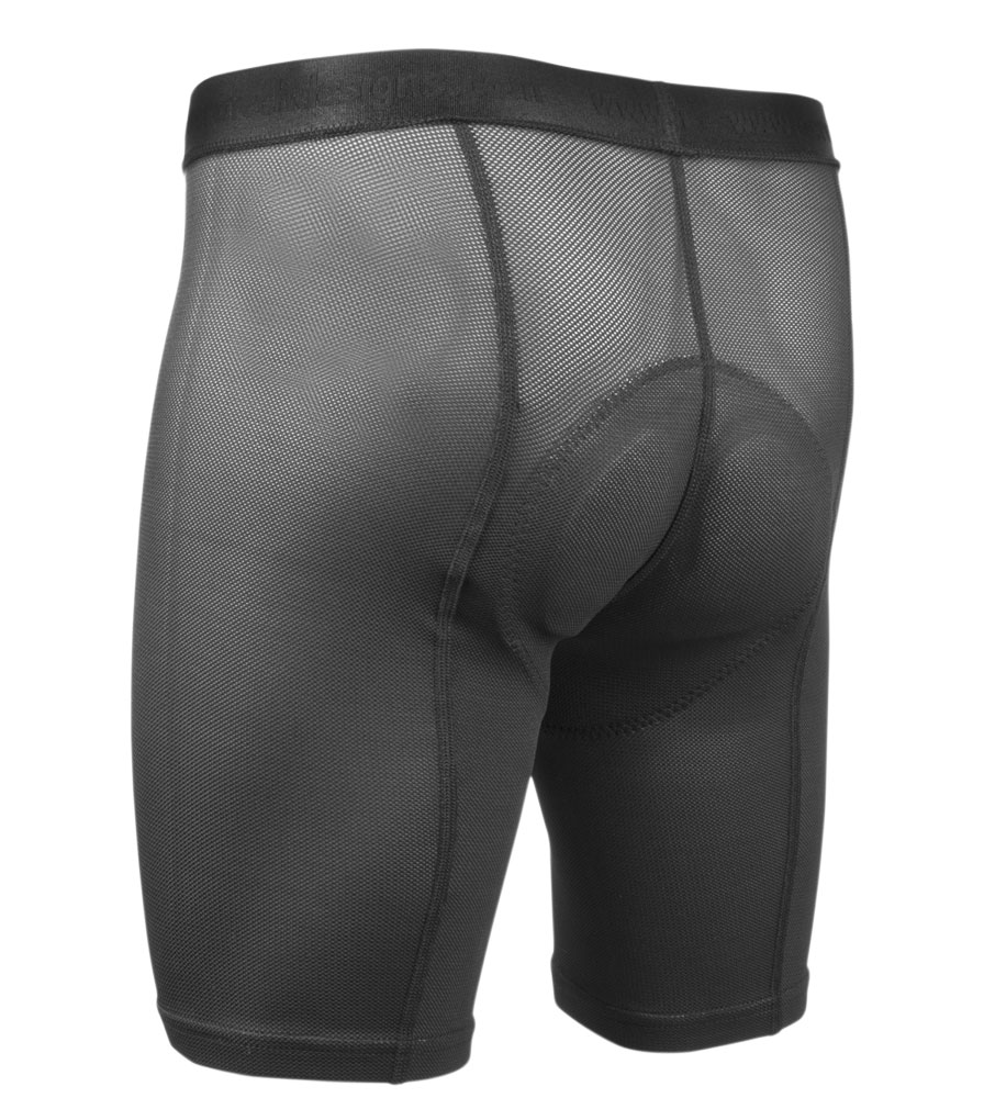 Men's Cycling Underwear Liner Short Back View