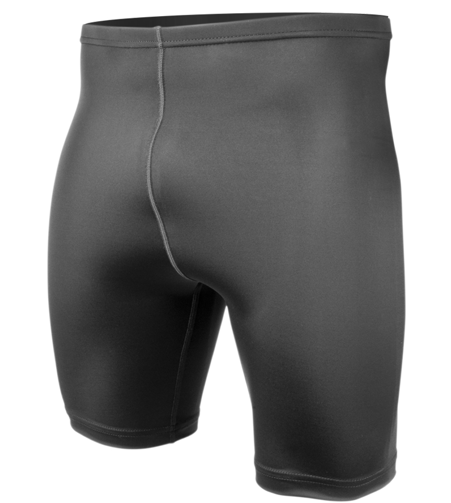 Big Men's Compression Shorts in Black