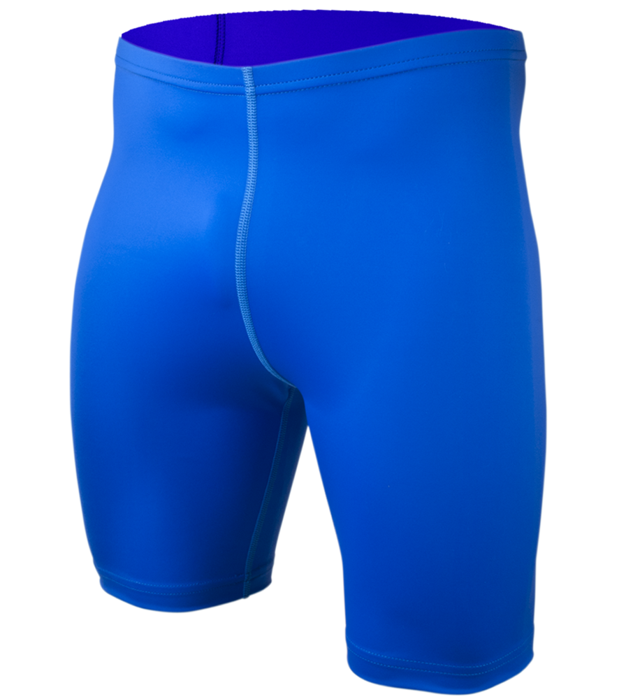 Big Men's Spandex Compression Short in Royal Blue