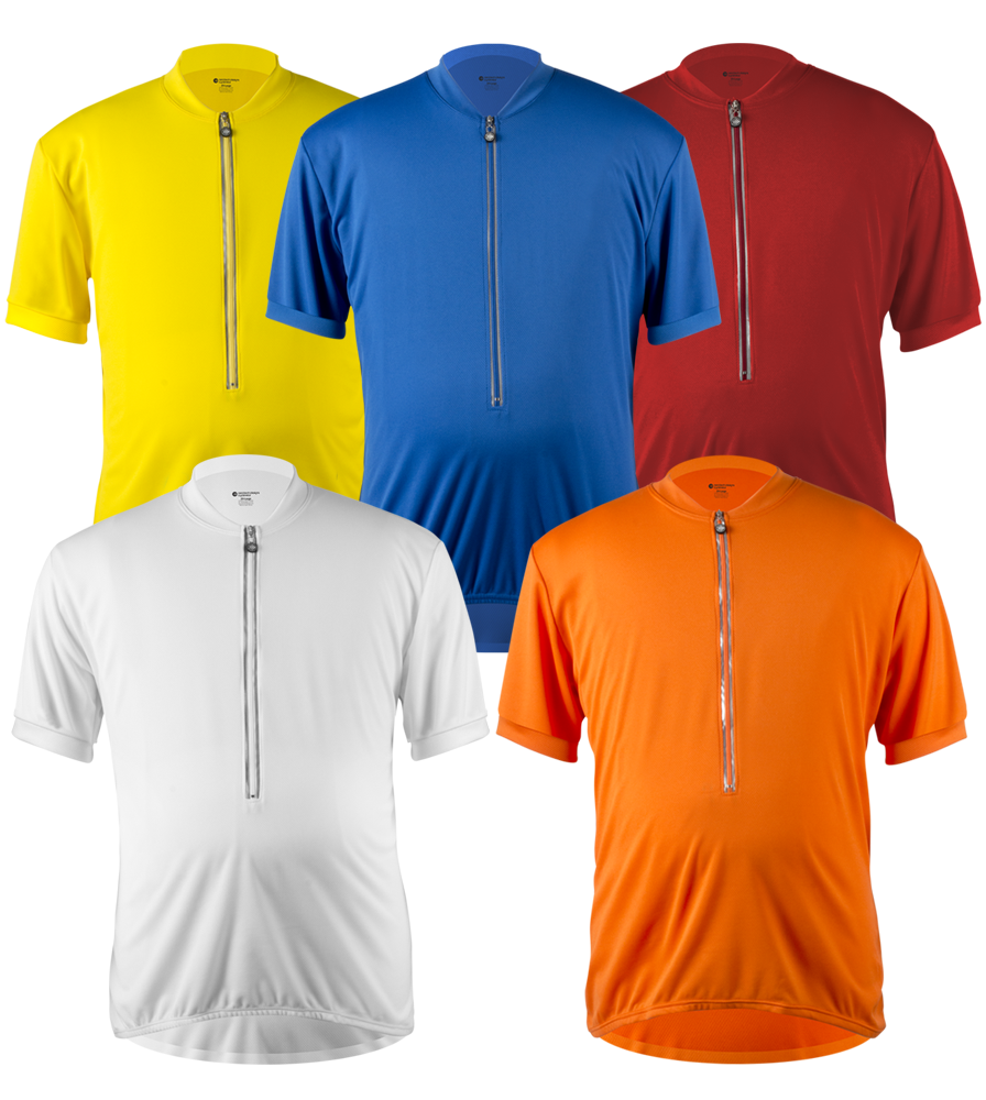 Big Man's Solid Color Cycling Jersey