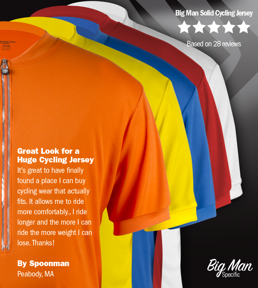 Big Man's Solid Color Long Sleeve Cycling Jersey Reviews