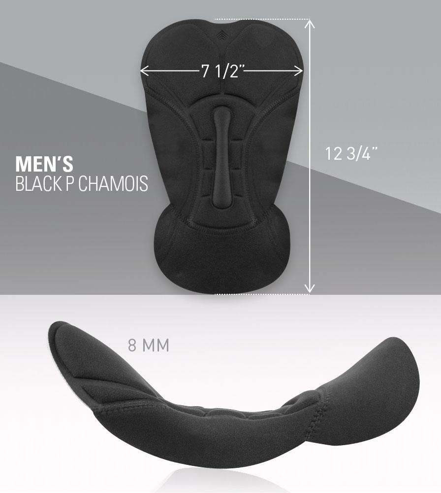 Black P Chamois Pad Measurements