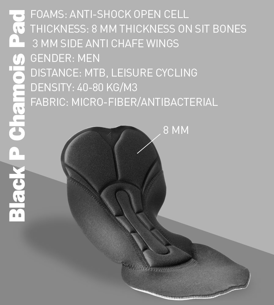 Black P Chamois Pad Features
